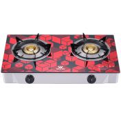Walton Glass Top Double Burner LPG - WGS-GHT1 RED CUBE